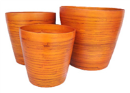 set of 3 bamboo cups