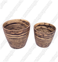set of 2 bamboo cups