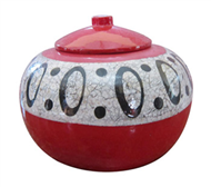 pot with eggshell inlay
