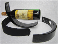 wine bottle holder with fabric sock