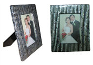 picture frame with seashell inlay
