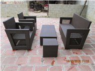 set of PE rattan furniture sofa