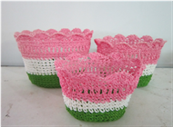 Vietnam Set of 3 Mini flower baskets