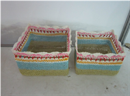 Vietnam Set of 2 Paper yarn Baskets