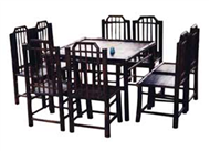set of dining table & 8 chairs