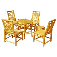 set of hexagon table & 4 chairs