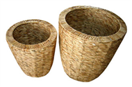 Vietnam Set of 2 rush baskets