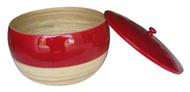 bamboo pot with lid