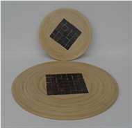 round table-mat with coconut inlay