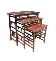 set of 3 bamboo tables