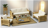 set of table & sofa chair with cushions
