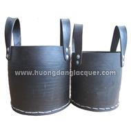 set of 2 rubber baskets
