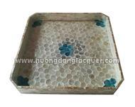 set of 2 lacquer trays