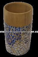 bamboo cup with eggshell inlay