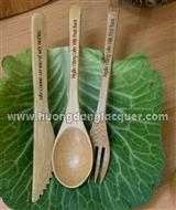set of spoon, fork & knife